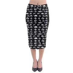 Fish pattern Midi Pencil Skirt
