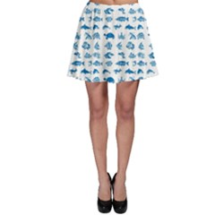 Fish pattern Skater Skirt