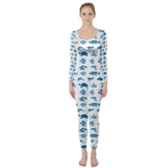 Fish pattern Long Sleeve Catsuit