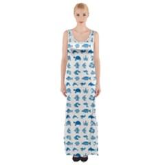 Fish pattern Maxi Thigh Split Dress