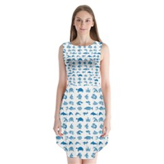 Fish pattern Sleeveless Chiffon Dress