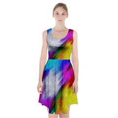 Rainbow colors                  Racerback Midi Dress