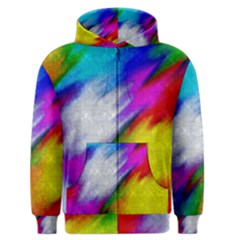 Rainbow colors              Men s Zipper Hoodie
