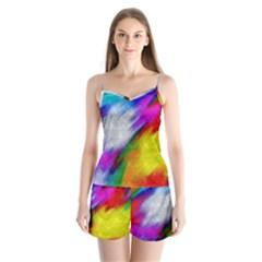 Rainbow Colors   Satin Pajamas Set