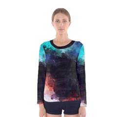 Paint strokes and splashes              Women Long Sleeve T-shirt