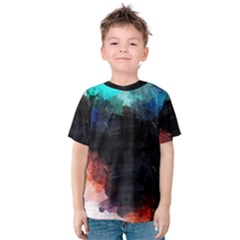 Paint strokes and splashes              Kid s Cotton Tee