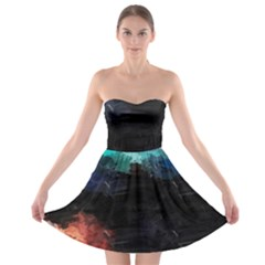 Paint strokes and splashes              Strapless Bra Top Dress