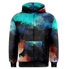 Paint strokes and splashes              Men s Zipper Hoodie