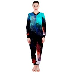 Paint strokes and splashes              OnePiece Jumpsuit (Ladies)