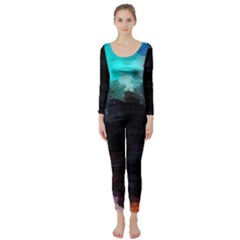 Paint strokes and splashes        Long Sleeve Catsuit
