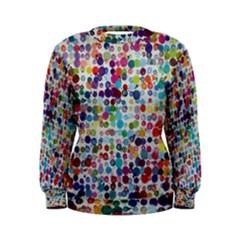 Colorful splatters                Women s Sweatshirt