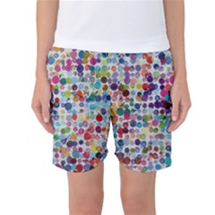 Colorful splatters         Women s Basketball Shorts