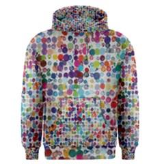 Colorful splatters               Men s Pullover Hoodie