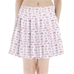 Fish pattern Pleated Mini Skirt