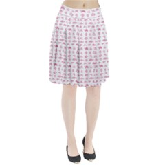 Fish Pattern Pleated Skirt