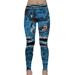 Blue painted wood                Yoga Leggings