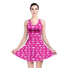 Fish pattern Reversible Skater Dress