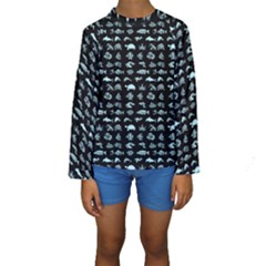 Fish pattern Kids  Long Sleeve Swimwear