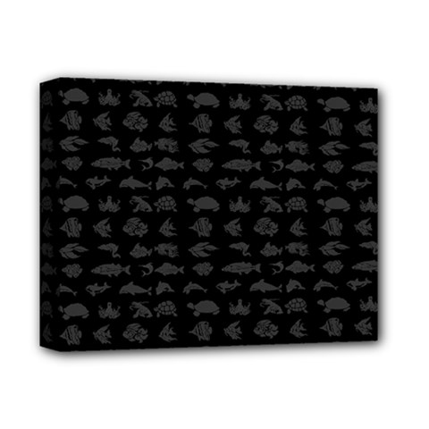 Fish pattern Deluxe Canvas 14  x 11