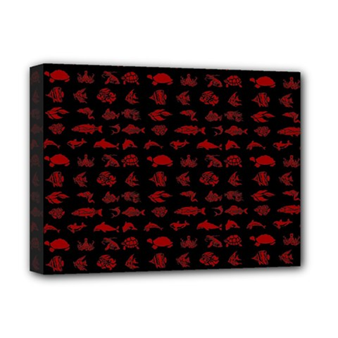 Fish pattern Deluxe Canvas 16  x 12