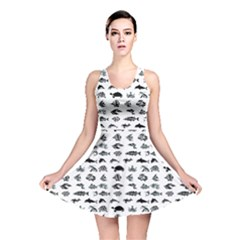 Fish pattern Reversible Skater Dress