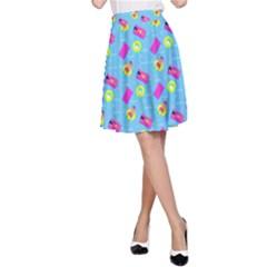 Summer pattern A-Line Skirt