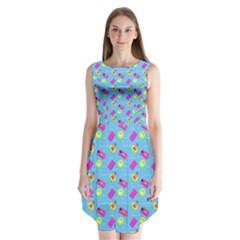 Summer pattern Sleeveless Chiffon Dress