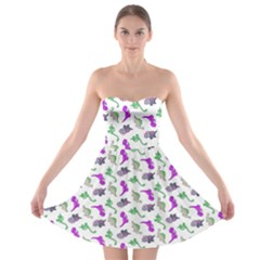 Dinosaurs pattern Strapless Bra Top Dress