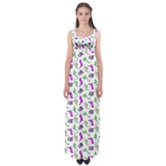 Dinosaurs pattern Empire Waist Maxi Dress