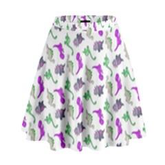 Dinosaurs pattern High Waist Skirt