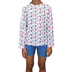 Dinosaurs pattern Kids  Long Sleeve Swimwear