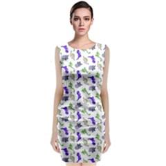 Dinosaurs pattern Classic Sleeveless Midi Dress
