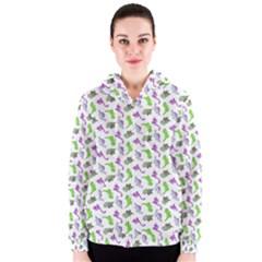 Dinosaurs pattern Women s Zipper Hoodie