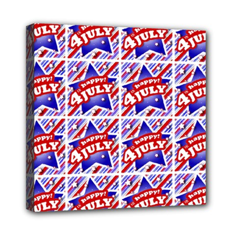 Happy 4th Of July Theme Pattern Mini Canvas 8  x 8