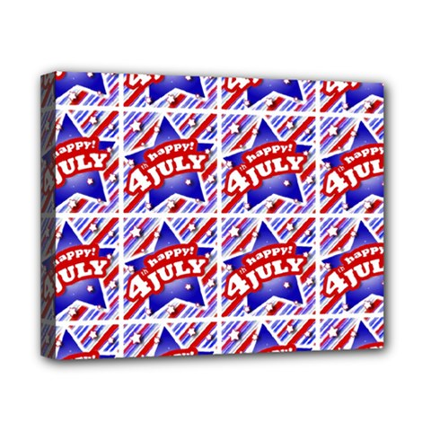 Happy 4th Of July Theme Pattern Canvas 10  x 8