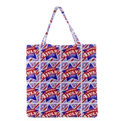 Happy 4th Of July Theme Pattern Grocery Tote Bag