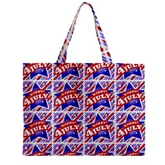 Happy 4th Of July Theme Pattern Mini Tote Bag