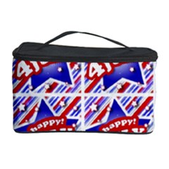 Happy 4th Of July Theme Pattern Cosmetic Storage Case