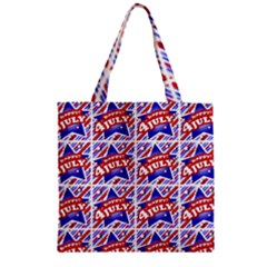 Happy 4th Of July Theme Pattern Zipper Grocery Tote Bag