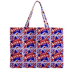 Happy 4th Of July Theme Pattern Zipper Mini Tote Bag