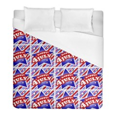 Happy 4th Of July Theme Pattern Duvet Cover (Full/ Double Size)