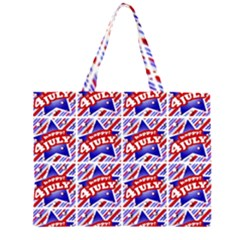 Happy 4th Of July Theme Pattern Large Tote Bag