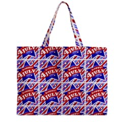 Happy 4th Of July Theme Pattern Medium Tote Bag