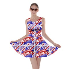 Happy 4th Of July Theme Pattern Skater Dress