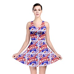Happy 4th Of July Theme Pattern Reversible Skater Dress
