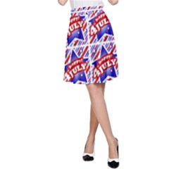 Happy 4th Of July Theme Pattern A-Line Skirt