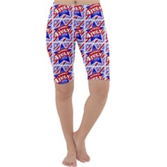Happy 4th Of July Theme Pattern Cropped Leggings