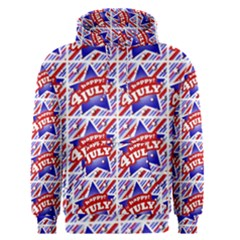 Happy 4th Of July Theme Pattern Men s Pullover Hoodie