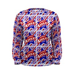Happy 4th Of July Theme Pattern Women s Sweatshirt