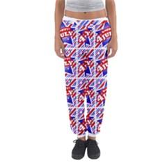 Happy 4th Of July Theme Pattern Women s Jogger Sweatpants